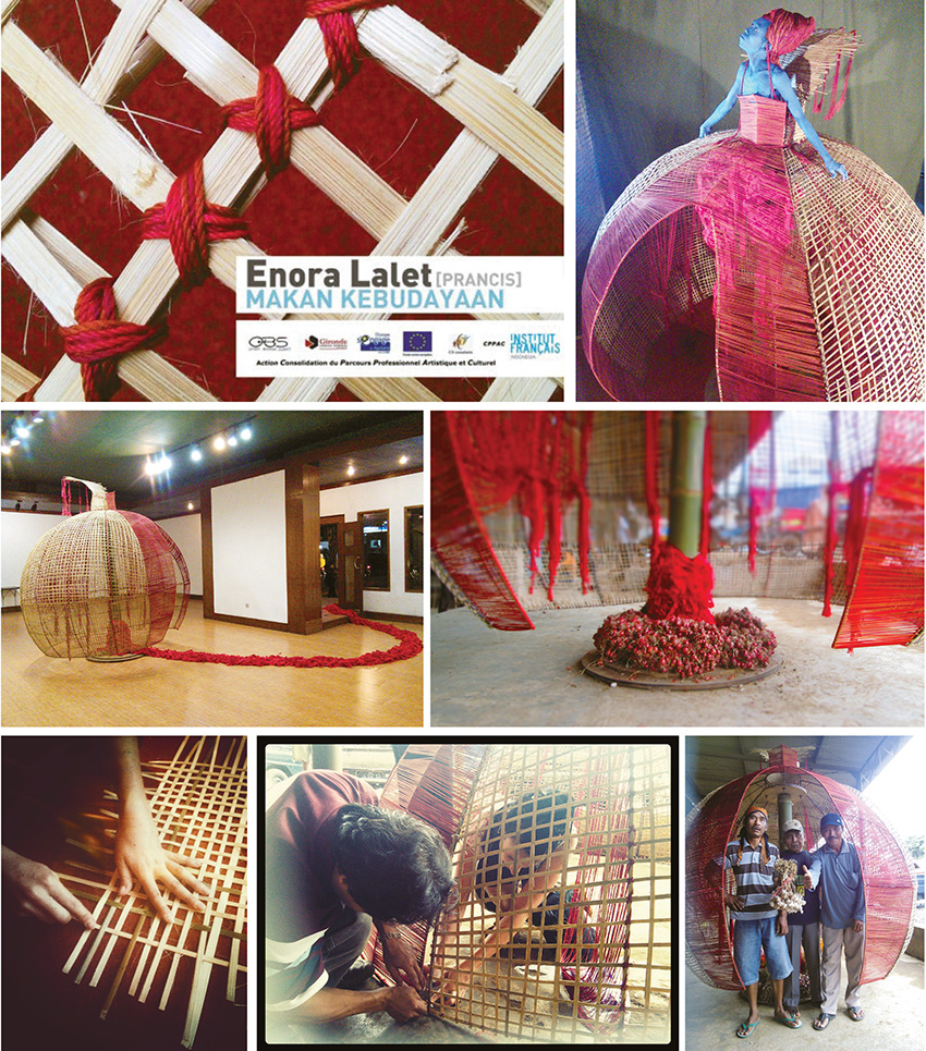 © Photographies de la résidence d'artiste à Java en Indonésie, janvier 2014 (Dessin technique Michael Mérino).