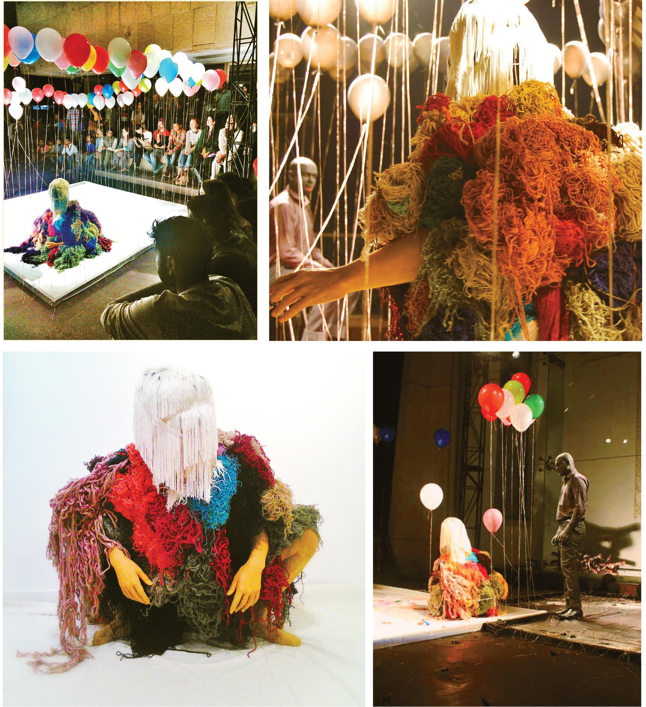 Social Animals, installation vivante, Alliance Française de New Dehli, Mars 2015 (danseurs: Mélodie SERENA et Deepak KURKI SHIVASWAMY)